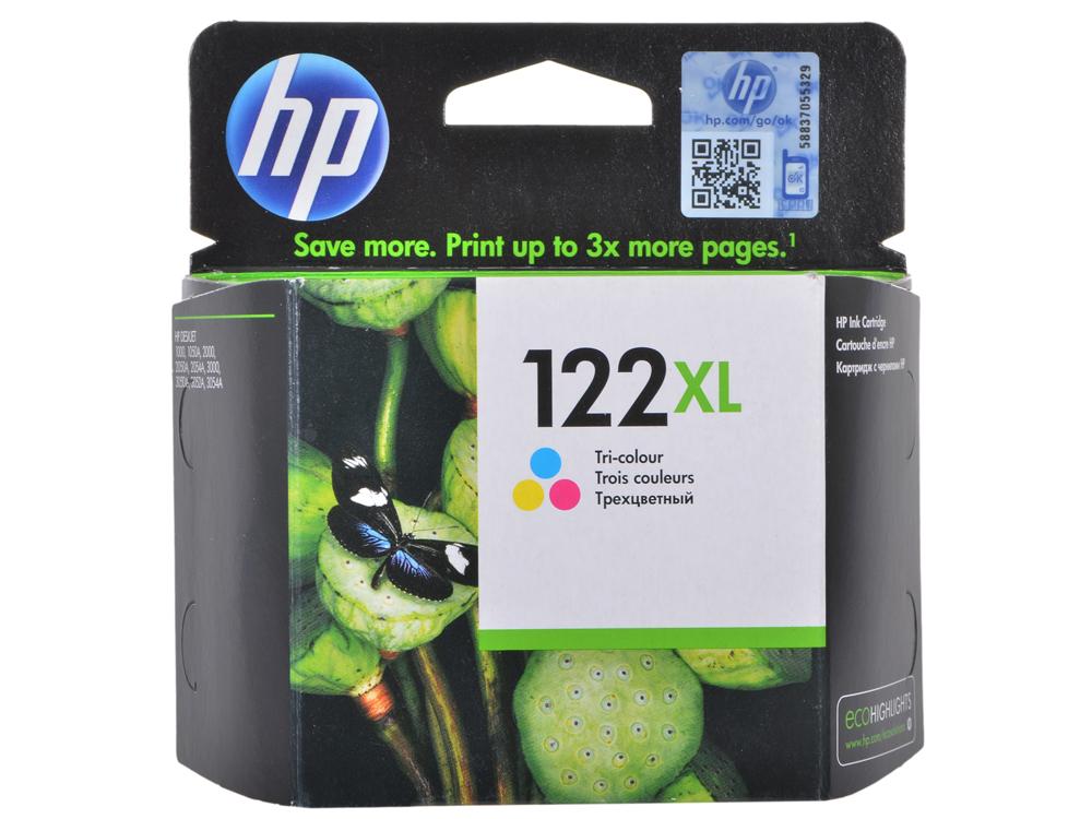 Картридж HP CH564HE (№122XL) цветной Deskjet 2050 повышенной емкости, 330стр картридж hp 122xl многоцветный [ch564he]