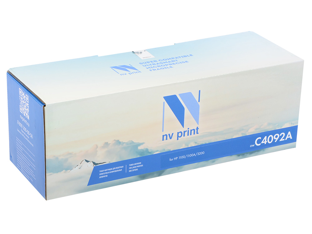 Картридж NV Print для HP LJ 1100/1100A/3200 C4092A картридж для принтера hp c8767he 130 black inkjet print cartridge