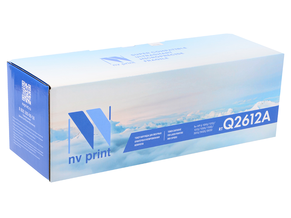 Картридж NV Print для HP LJ 1010/1012/1015/1020/1022/3015/3020/3030 Q2612A 2pcs alzenit oem new for hp 1010 1012 1015 1020 3015 3020 3030 charge roller q2612a printer parts