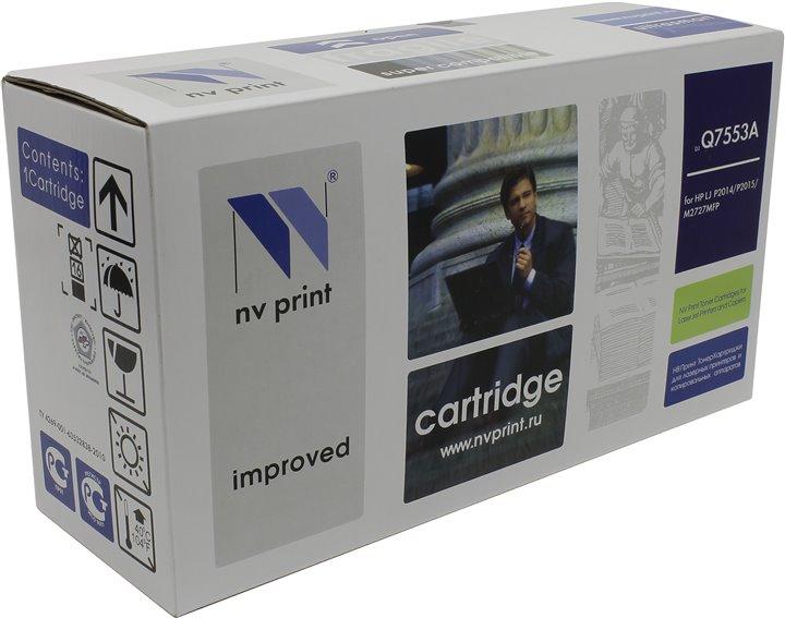 Картридж NV Print для HP  LJ P2015  Q7553A картридж nv print ce255a для hp lj p3015
