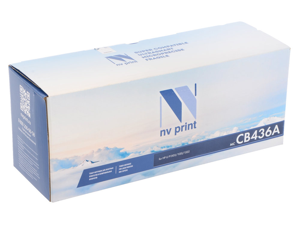 Картридж NV Print для HP LJ P1505 CB436A lcl cb436a 436a cb436 436 36a 36 4 pack black toner cartridge compatible for hp p1503 p1504 p1505 p1506 p1503n p1504n