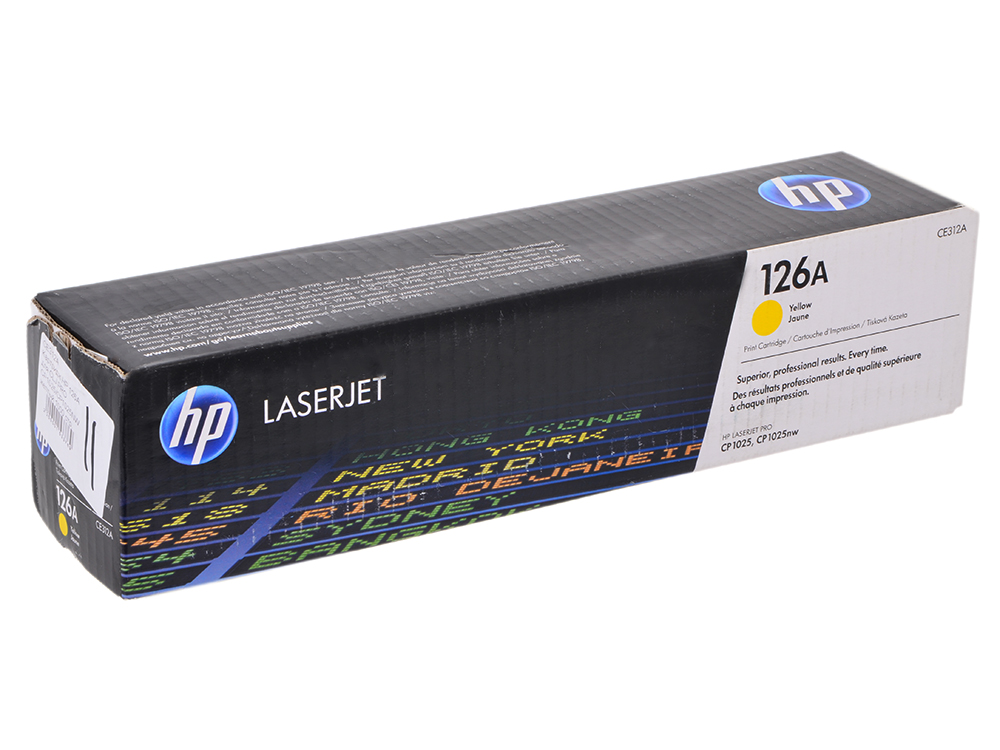 Картридж HP CE312A (№126A) желтый LaserJet CP1025 new paper delivery tray assembly output paper tray rm1 6903 000 for hp laserjet hp 1102 1106 p1102 p1102w p1102s printer