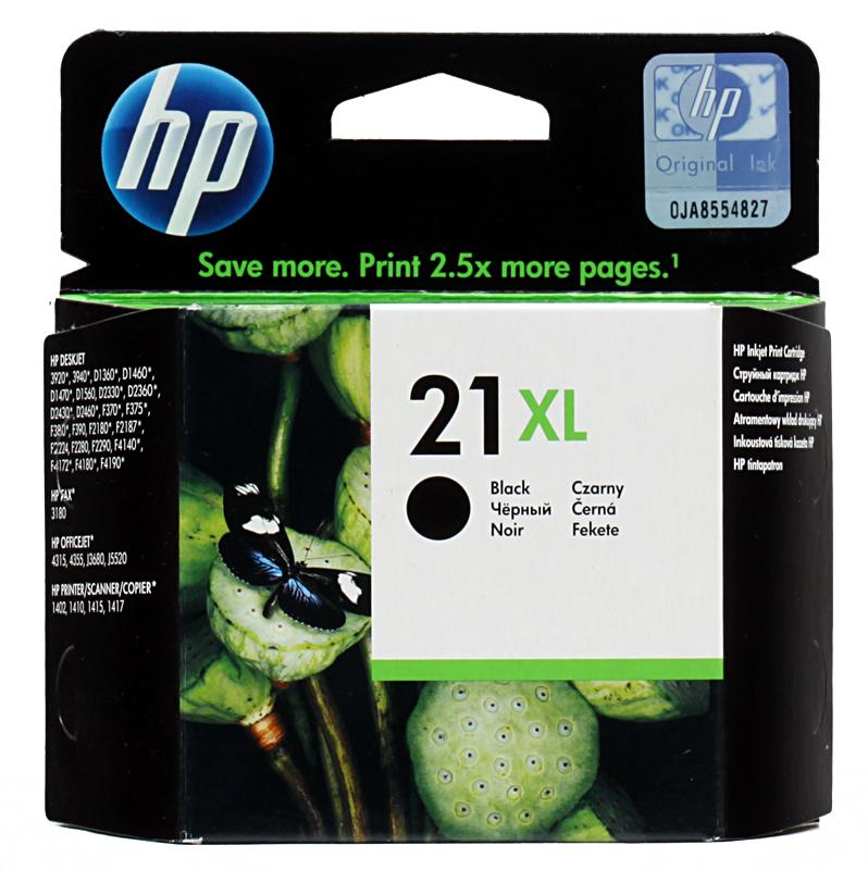Картридж HP C9351CE (№21XL) черный DJ 3920/3940/PSC 1410 повышенной емкости цена и фото