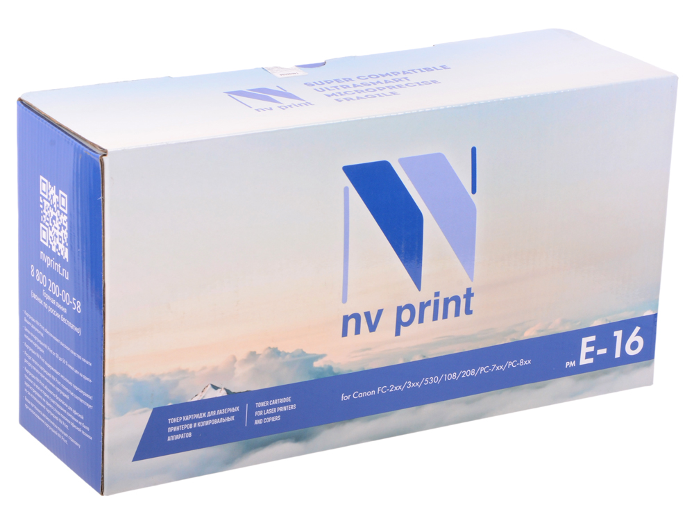Картридж NV-Print совместимый Canon E-16 для FC-2xx/3xx/530/108/208; PC-7xx ; PC-8xx. Чёрный. 2000 страниц. 1 pc fish print quilt