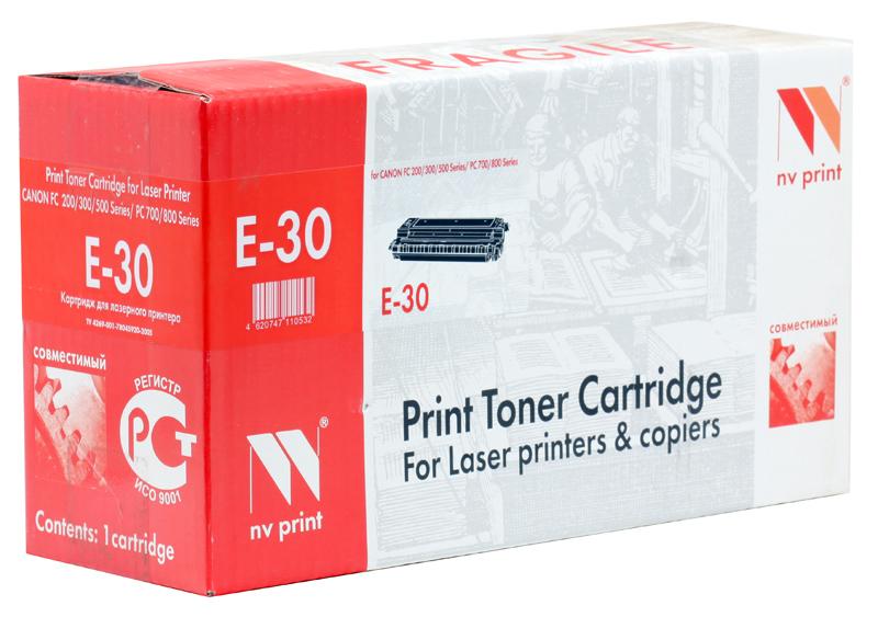 Картридж NV-Print совместимый Canon E-30 для FC-2xx/3xx/530/108/208; PC-7xx ; PC-8xx. Чёрный. 4000 страниц. canon e 30 1491a003