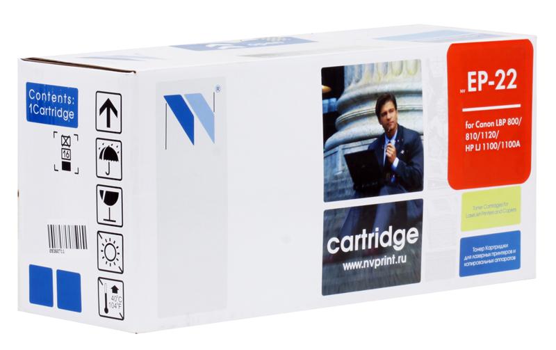 Картридж NV-Print совместимый Canon EP-22 для LBP-800/810/1120, HP LJ 1100/1100A. Чёрный. 2500 страниц. картридж nv print q7516a для hp lj 5200 5200dtn 5200l 5200tn 5200n 5200lx