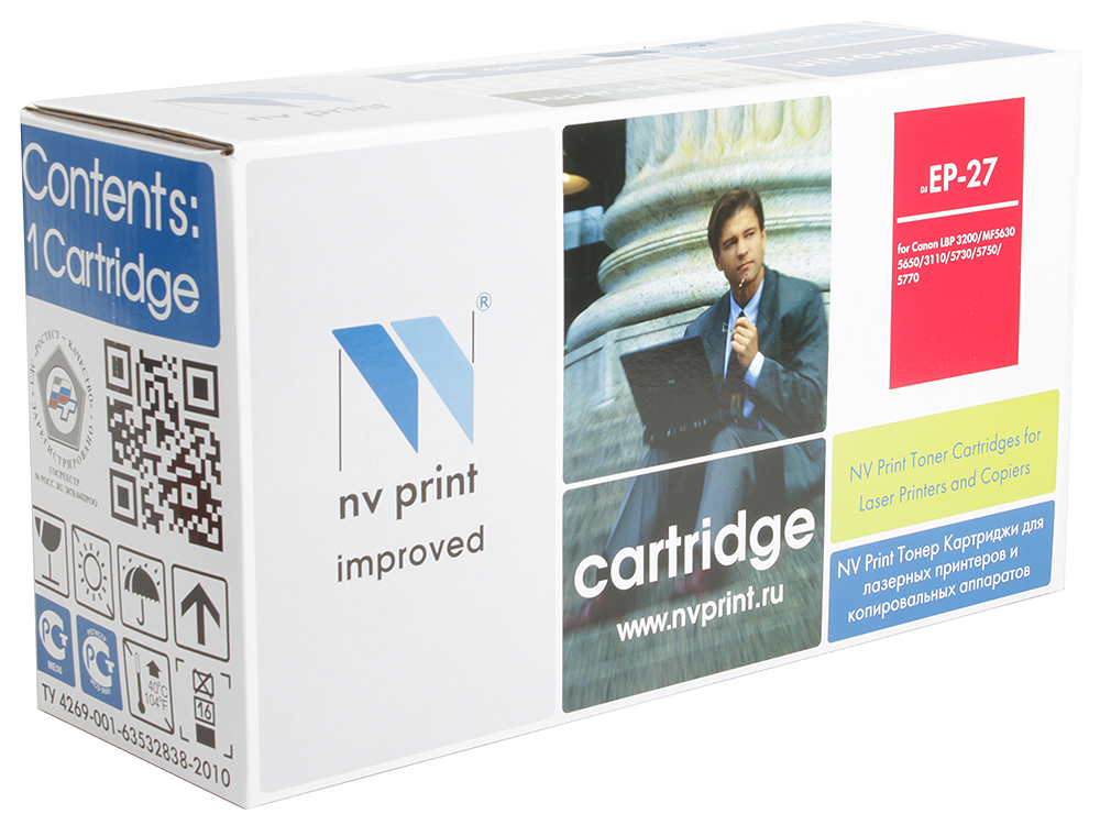 Картридж NV-Print совместимый Canon EP-27 для LBP 3200/MF5630/5650/3110/5730/5750/5770. Чёрный. 2500 страниц. high quality black laser toner powder for canon epw ep 72 ep 72 lbp 930 lbp 2460 lbp 950 lbp950 1kg bag printer