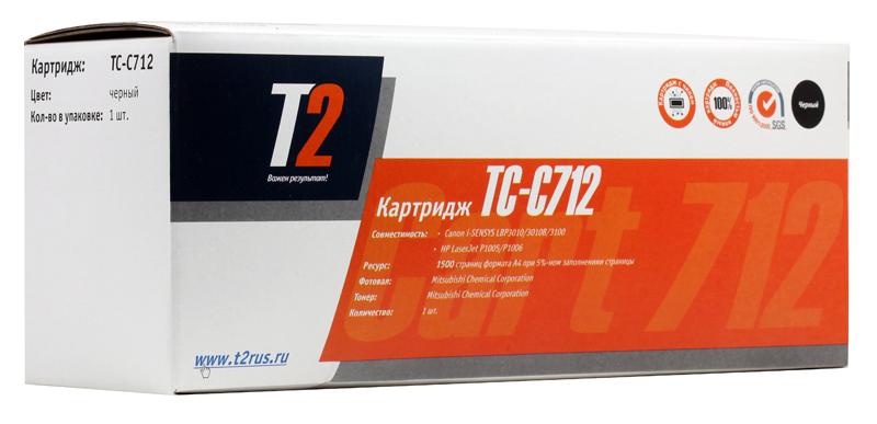 Картридж T2 для Canon TC-C712 картридж t2 для hp tc h85a laserjet p1102 1102w pro m1132 m1212nf m1214nfh canon i sensys lbp6000 cartrige 725 1600 стр с чипом
