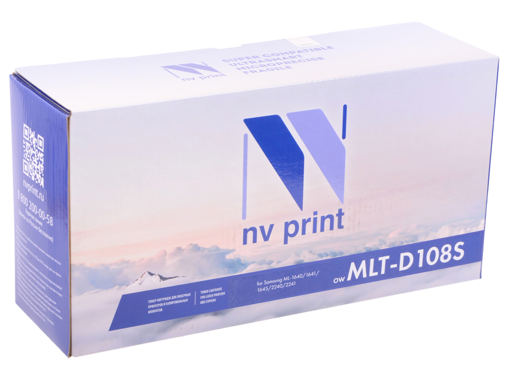 Картридж NV-Print совместимый MLT-D108S для ML-1640/1641/1645/2240/2241. Чёрный. 1500 страниц. flower candles print waterproof shower curtain