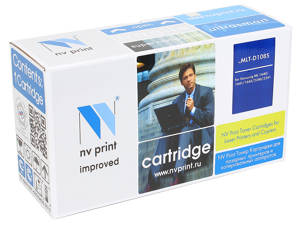Картридж NV-Print совместимый MLT-D108S для ML-1640/1641/1645/2240/2241. Чёрный. 1500 страниц. картридж nv print совместимый с samsung mlt d105s для ml 1910