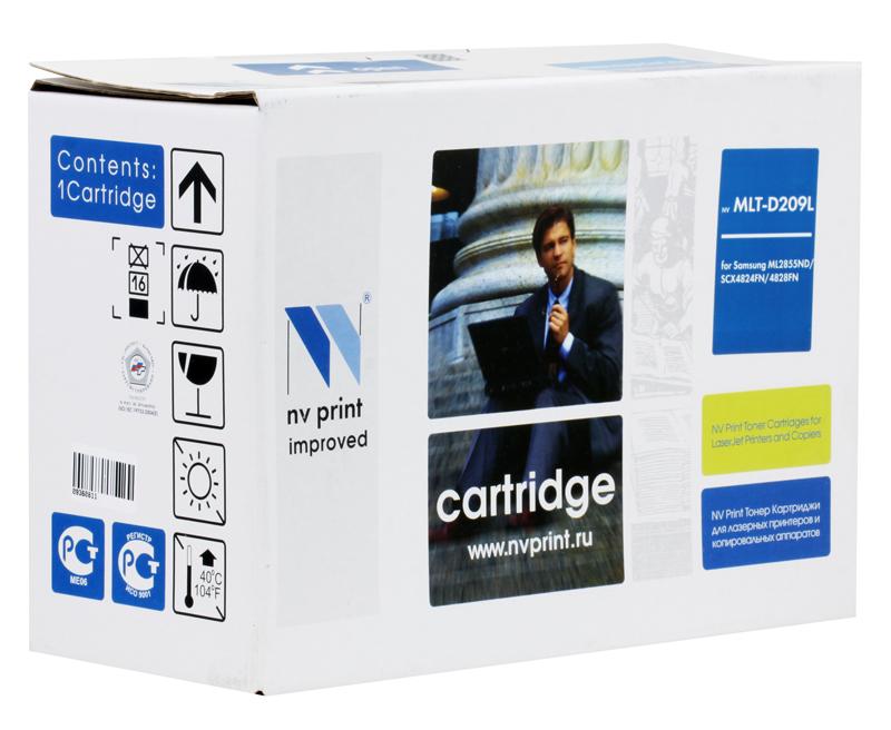 Картридж NV-Print совместимый Samsung MLT-D209L для ML-2855ND/SCX-4824FN/4828FN. Чёрный. 5000 страниц картридж nv print для samsung sl m2620 2820 2870 3000k nv mltd115l