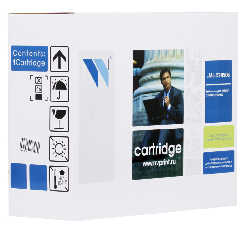 Картридж NV Print  совместимый Samsung ML-D2850B для  ML-2850D/2851ND. Чёрный. 5000 страниц. nv print ml4550b тонер картридж для samsung ml 4050n 4550 4551n 4551nd
