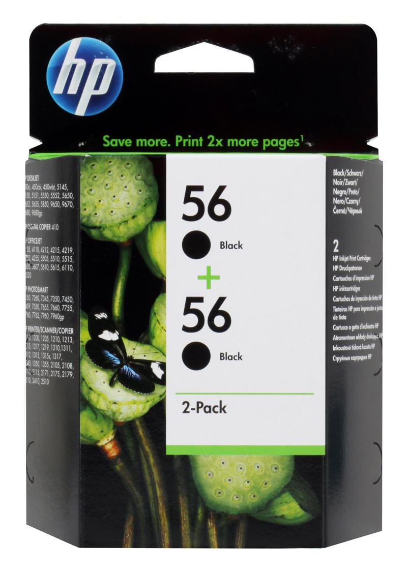 Картридж HP C9502AE (C6656AE в сдвоенной упаковке) черный DJ450C/5550 hp c9502ae 56 black струйный картридж