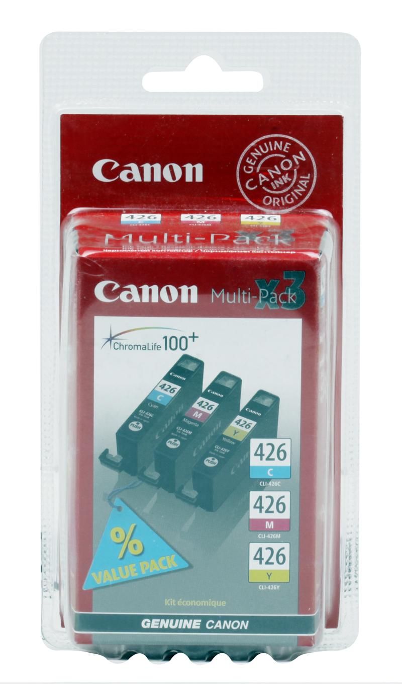 Картридж Canon CLI-426 C/M/Y для iP4840, MG5140, MG5240, MG6140, MG8140 .(3 картриджа в упаковке). Цветной. 446 страниц. картридж colouring cg cli 426bk black для canon ip4840 mg5140 mg5240 mg6140 mg8140
