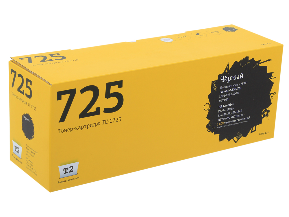 Картридж T2 TC-C725 (с чипом) картридж для принтера t2 tc hcf413a с чипом purple