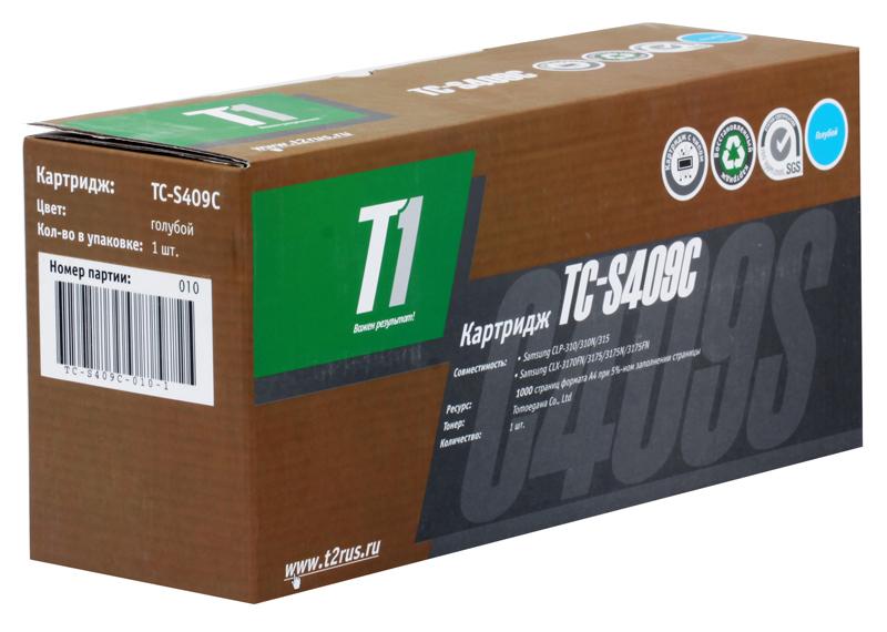 Картридж T2 TC-S409C T1 Cyan (с чипом) картридж для принтера t2 tc hcf413a с чипом purple