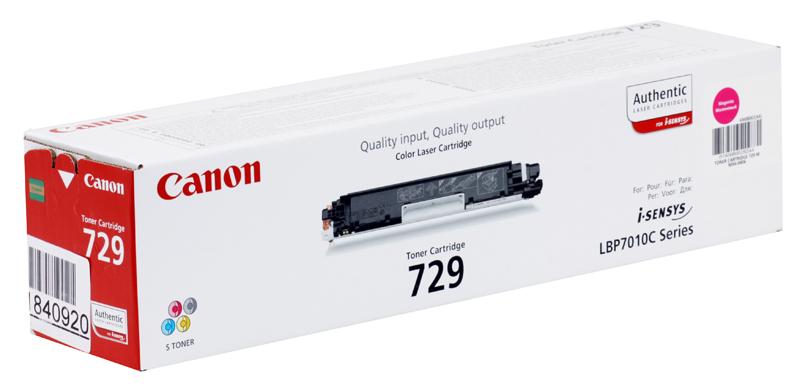 Картридж Canon 729 M для i-SENSYS LBP7010C  LBP7018C. Пурпурный. 1000 страниц.