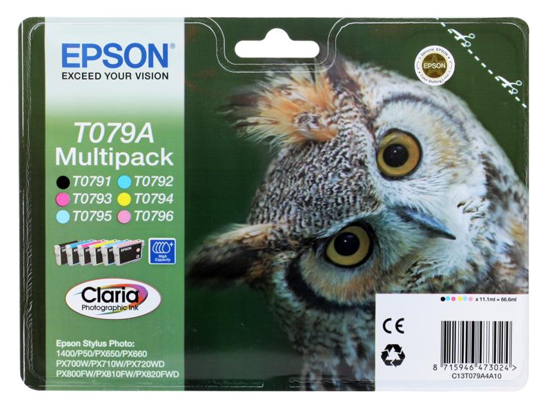 Картридж Epson Original T079A4A10 комплект для P50/PX660 картридж c13t08044011 epson t0804 желтый для p50 px660 c13t08044011