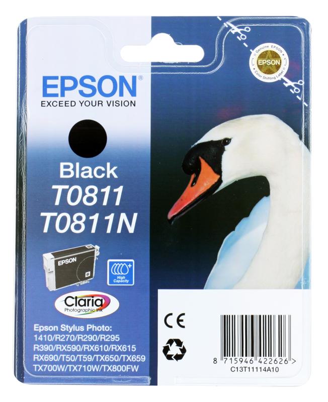 Картридж Epson Original T11114A10 черный для R270/390/RX590 повышенной емкости картридж epson original t11114a10 черный для r270 390 rx590 повышенной емкости