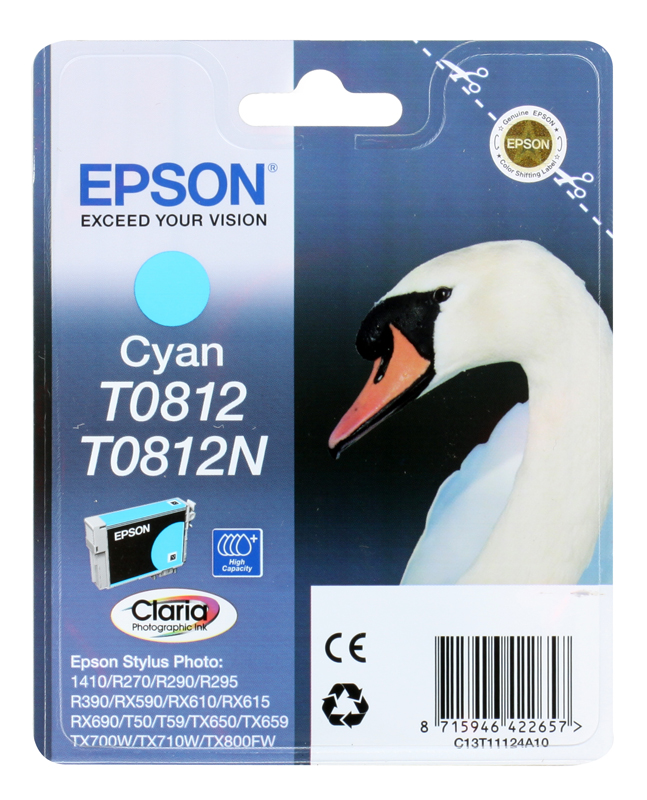 Картридж Epson Original T11124A10 Cyan (повышенной емкости) для R270/ 390/ RX590 in stock measy a2w 4k tv dongle dual band 2 4ghz 5ghz wifi miracast airplay dlna tv stick support 4k ezcast wifi display dongle