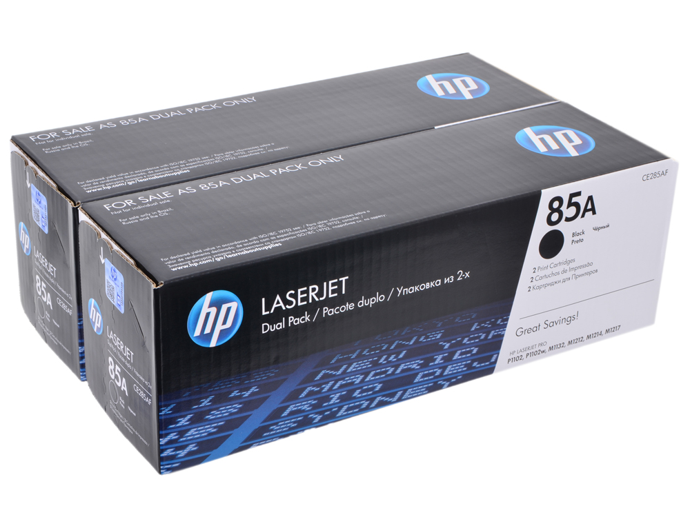 Картридж HP CE285AF двойная упаковка LJ 1102/1132/1212nf/1214nfh tphphd u high quality black laser toner powder for hp ce285 cc364 p 1102 1102w m 1132 1212 1214 1217 4015 4515 free fedex