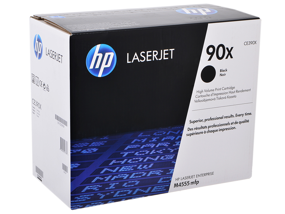 Картридж HP CE390X (№90X) CLJ M4555, LJ M601, M602, M603 повышенной емкости compatible ce390a ce390 390a 390 90a toner chip cartridge chip for hp laserjet m4555 4555 enterprise m601 m602 m603 page 10 page 9