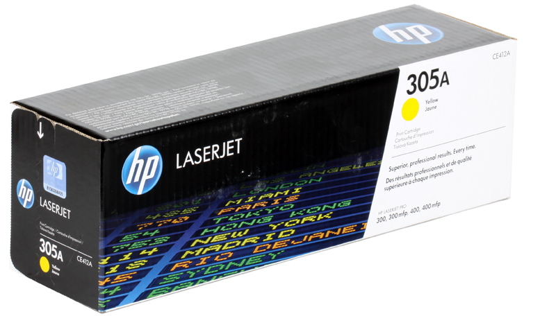 Картридж HP CE412A (№305A) Желтый CLJ M351, M375, M451, M475 4pk ce410a 410a ce411a ce412a ce413acompatible color toner cartridge for hp laserjet pro 300 305a 400 m351 m375 m475dn m451 m475