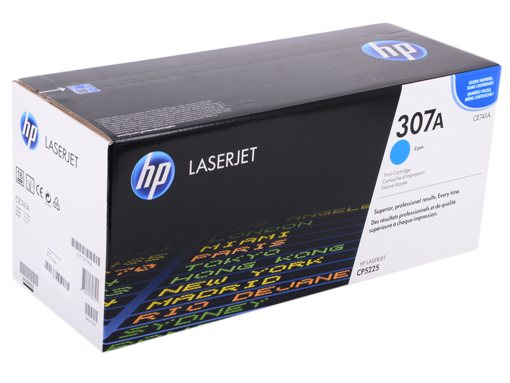 Картридж HP CE741A (№307A) Голубой CLJ CP5225 hp ce742a 307a yellow тонер картридж для color laserjet cp5225