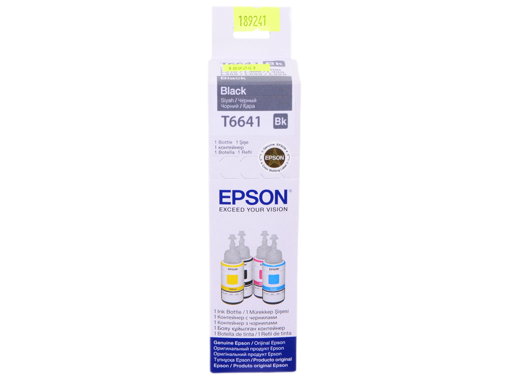Картридж Epson Original T66414A черный для L100 original cc03main mainboard main board for epson l455 l550 l551 l555 l558 wf 2520 wf 2530 printer formatter
