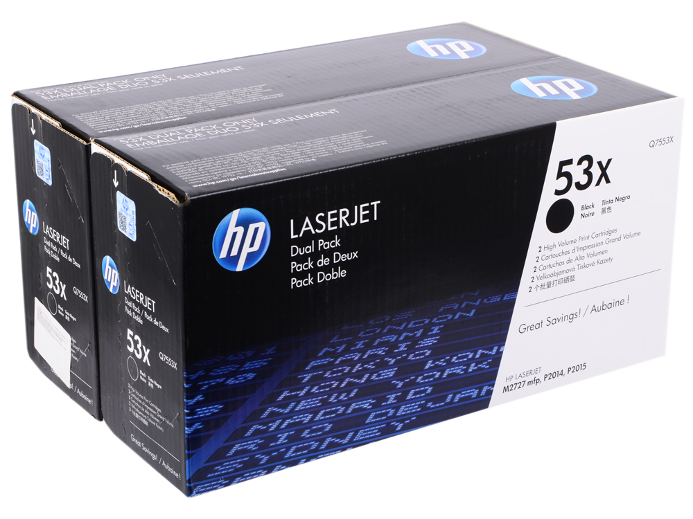 Картридж HP Q7553XD Двойная упаковка cs 7553xu toner laserjet printer laser cartridge for hp q7553x q5949x q7553 q5949 q 7553x 7553 5949x 5949 53x 49x bk 7k pages