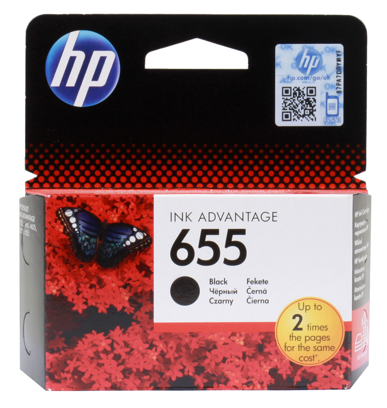 Картридж HP CZ109AE (№ 655) черный, DJ IA 3525/4615/4625/5525, 550стр for hp 655 refillable ink cartridge for hp deskjet 3525 4615 4625 5525 6520 6525 for hp dey ink bottle 4 color universal 400ml