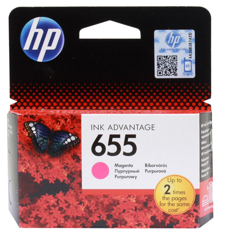 Картридж HP CZ111AE (№ 655) пурпурный, DJ IA 3525/4615/4625/5525, 600стр for hp 655 refillable ink cartridge for hp deskjet 3525 4615 4625 5525 6520 6525 for hp dey ink bottle 4 color universal 400ml
