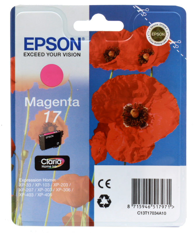 Картридж Epson Original T17034A10 Expression Home XP пурпурный