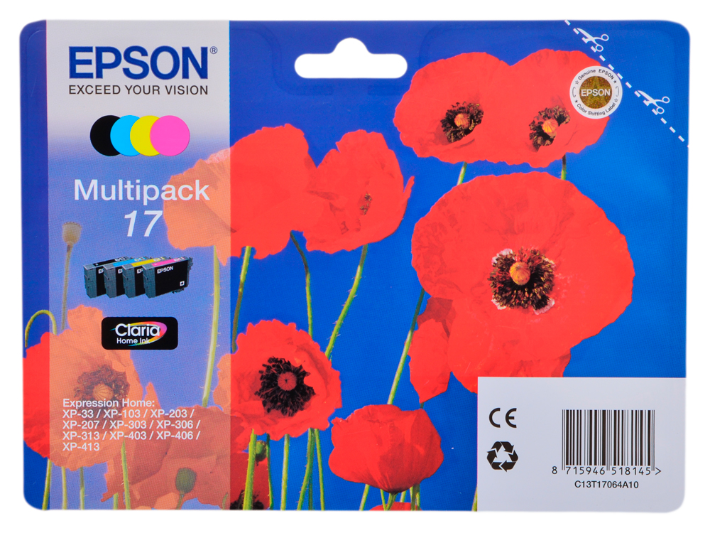 Картридж Epson Original T17064A10 Набор картриджей Expression Home XP epson expression home xp 330