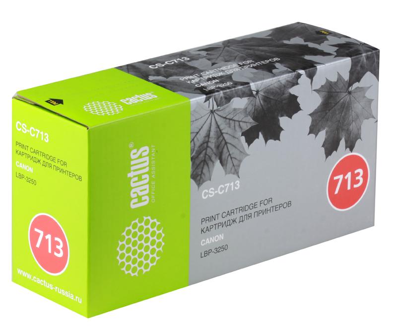 Картридж CACTUS CS-C713/CS-C713S для принтеров CANON i-SENSYS LBP3250 принтер canon i sensys colour lbp653cdw лазерный цвет белый [1476c006]
