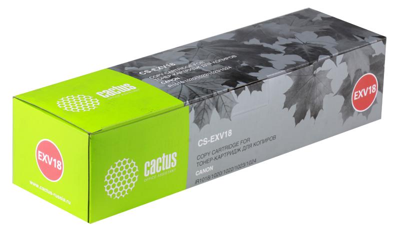 цена Тонер-картридж CACTUS CS-EXV18 для Canon iR1018/1020/1022/1023/1024, 8300 стр.