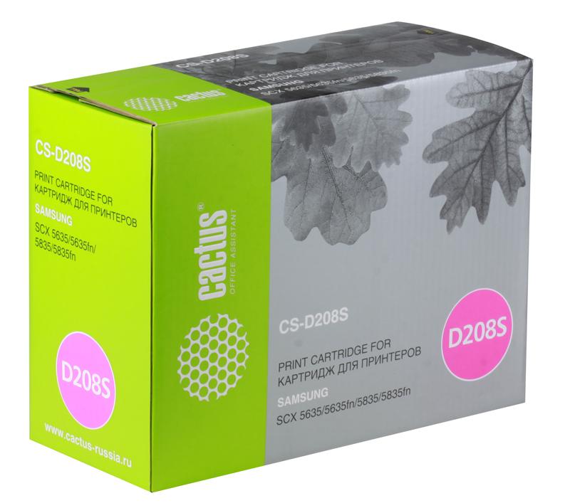 Картридж CACTUS CS-D208S для принтеров Samsung SCX-5835FN/5635FN картридж cactus cs s4200 для принтеров samsung scx 4200 3000 стр
