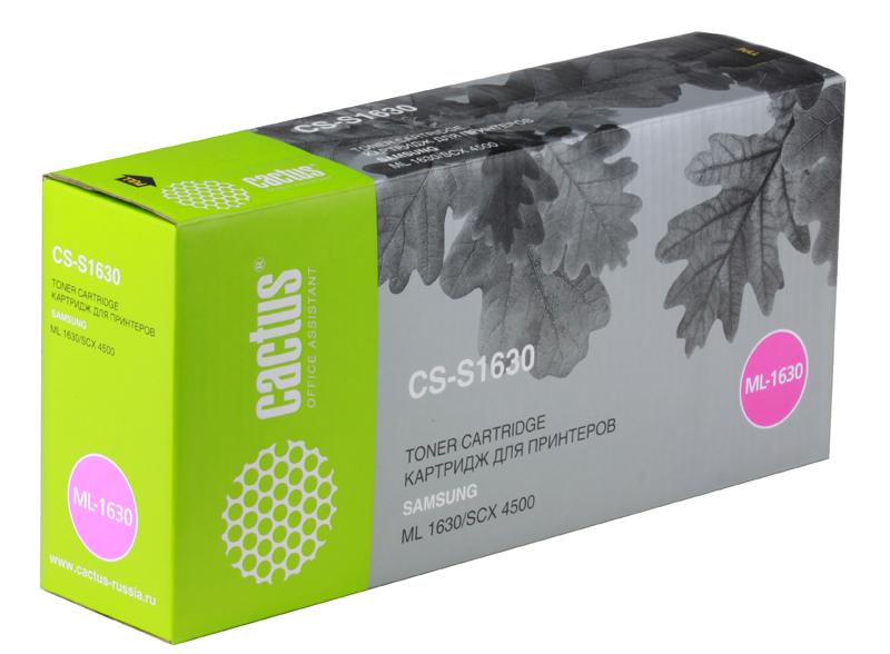 Картридж CACTUS CS-S1630 для принтеров SAMSUNG ML-1630, SCX-4500 cactus cs s1610 black тонер картридж для samsung ml 1610 1615 1650