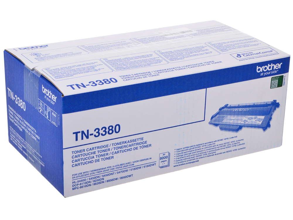 Тонер-картридж Brother TN3380 тонер картридж brother lc1000bk