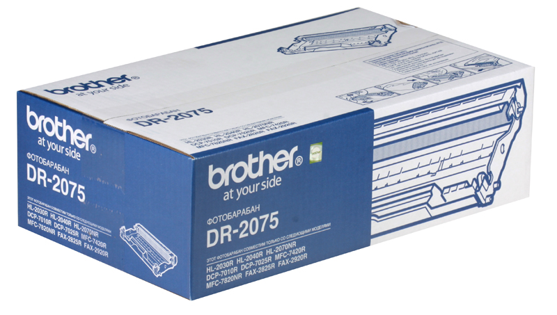 Фотобарабан Brother DR2075 для HL-2030/HL-2040/HL-2070N/DCP-7010/DCP-7025/MFC-7420/MFC-7820N/FAX-2825/FAX-2920 (12000 стр) fuser unit fixing unit fuser assembly for brother dcp 7020 7010 hl 2040 2070 intellifax 2820 2910 2920 mfc 7220 7420 7820 110v