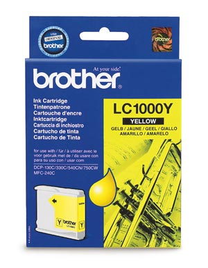 Картридж струйный Brother LC1000Y картридж brother струйный lc1000y yellow for dcp 130 330