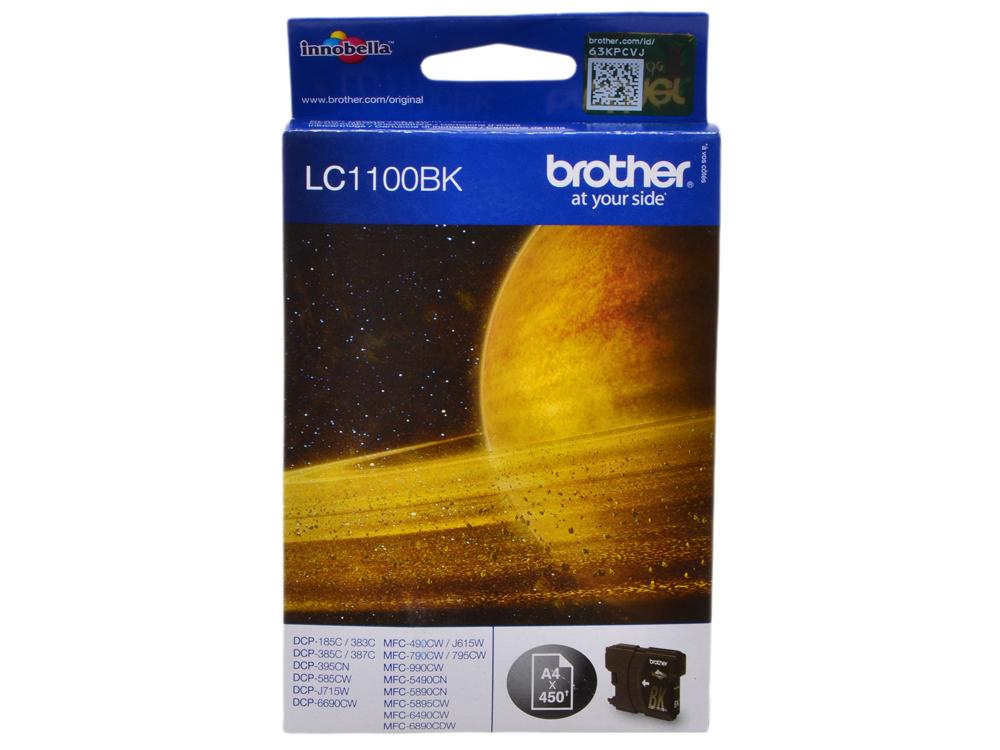 Картридж струйный Brother LC1100BK картридж струйный brother lc1100hyc