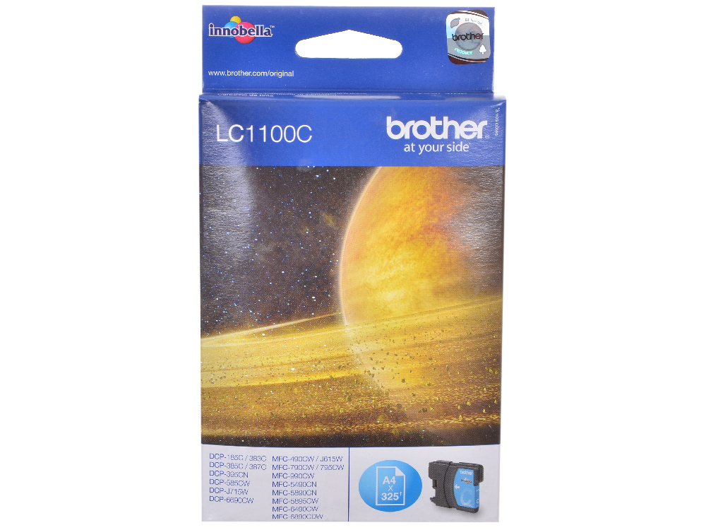 Картридж струйный Brother LC1100C картридж струйный brother lc1100hyc