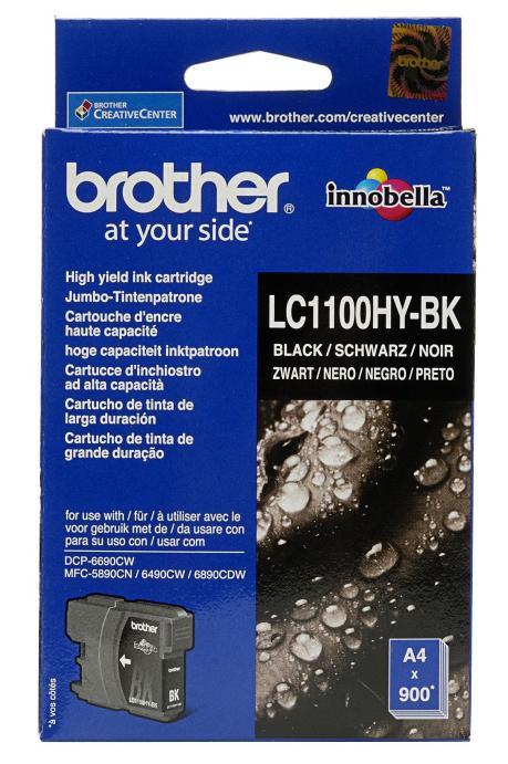 Картридж струйный Brother LC1100HYBK картридж струйный brother lc980c