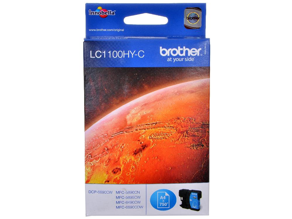 Картридж струйный Brother LC1100HYC my own dear brother
