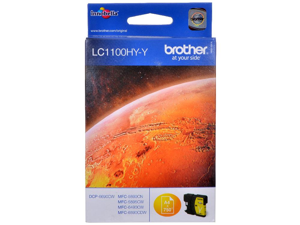 Картридж струйный Brother LC1100HYY my own dear brother