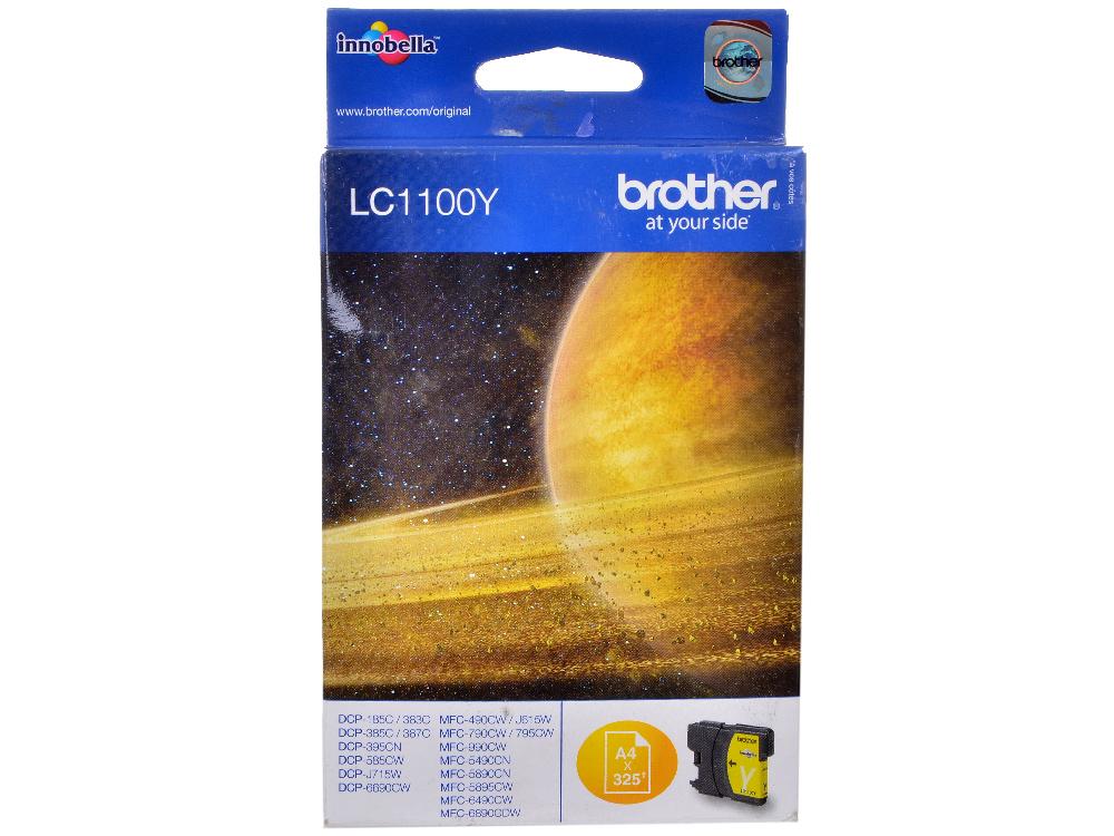 Картридж струйный Brother LC1100Y картридж струйный brother lc663c