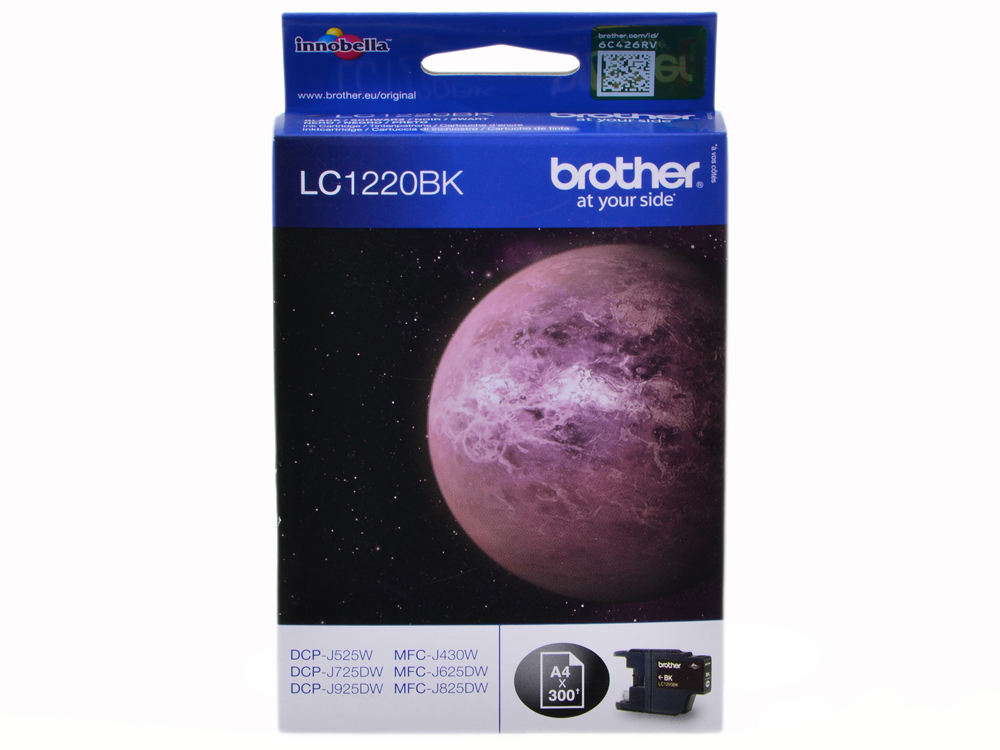 Картридж струйный Brother LC1220BK картридж струйный brother lc663bk