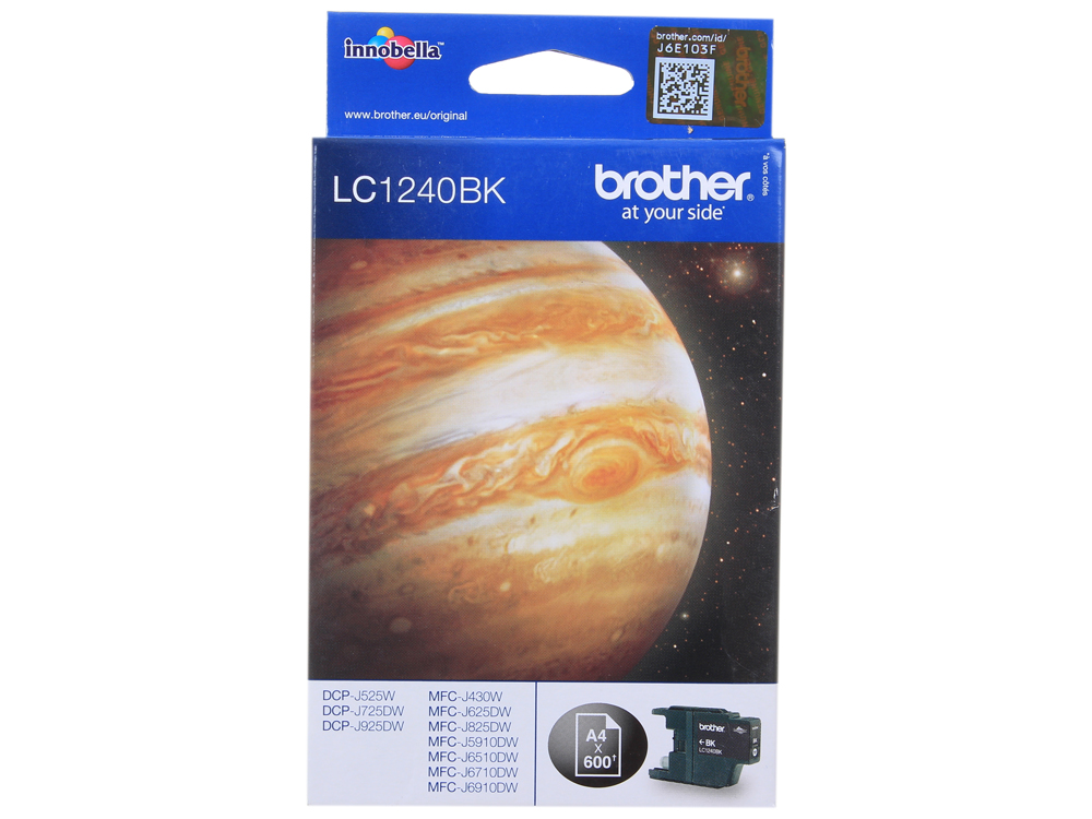 Картридж струйный Brother LC1240BK my own dear brother