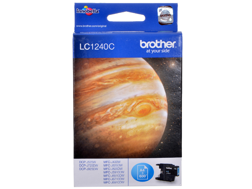 Картридж струйный Brother LC1240C картридж струйный brother lc663bk